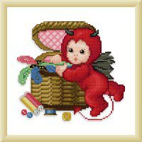 click here to view larger image of Little Stitch Devil with Sewbasket (chart)