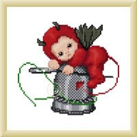 click here to view larger image of Little Stitch Devil with Thimble (chart)