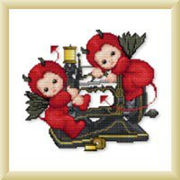 click here to view larger image of Little Stitch Devils on Sewing Machine (chart)
