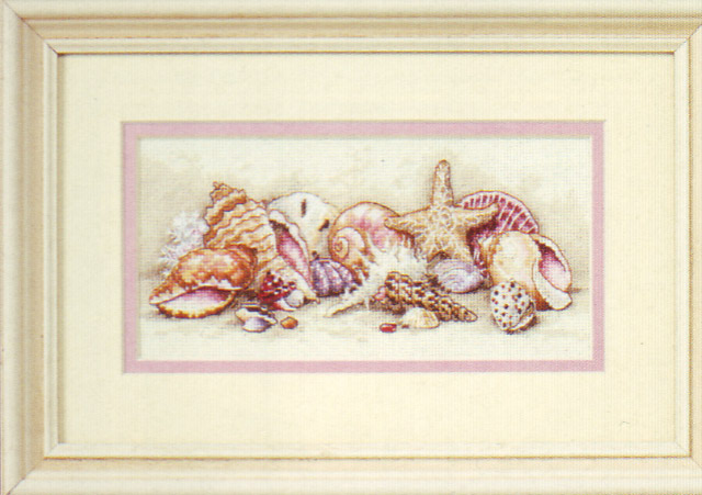 click here to view larger image of Seashell Treasures (counted cross stitch kit)