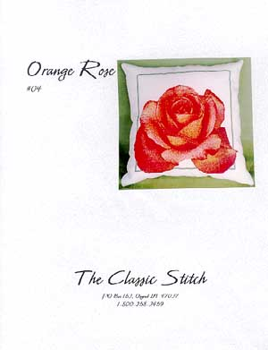 click here to view larger image of Orange Rose Pillow (chart)