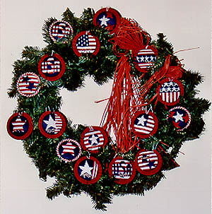 click here to view larger image of Patriotic Ornaments (chart)