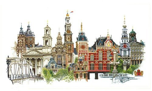 click here to view larger image of Amsterdam - linen (counted cross stitch kit)
