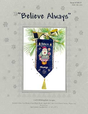 click here to view larger image of Believe Always (Santa & Gingerbread) (counted cross stitch kit)