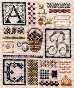 click here to view larger image of Sampler of Stitches - Part One ABC (chart)