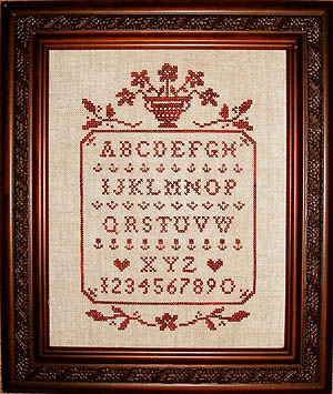 click here to view larger image of Floral Sampler In Red (chart)