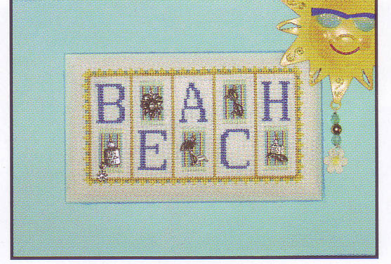 click here to view larger image of Beach - mini blocks (chart with charms/buttons)