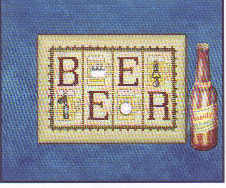 click here to view larger image of Beer - mini blocks (chart with charms/buttons)