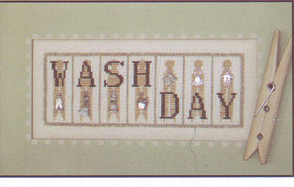 click here to view larger image of Washday - mini blocks (chart with charms/buttons)