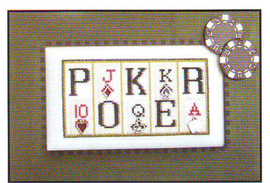 click here to view larger image of Poker - mini blocks (chart with charms/buttons)