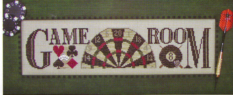 click here to view larger image of Game Room - charmed sampler (chart with charms/buttons)