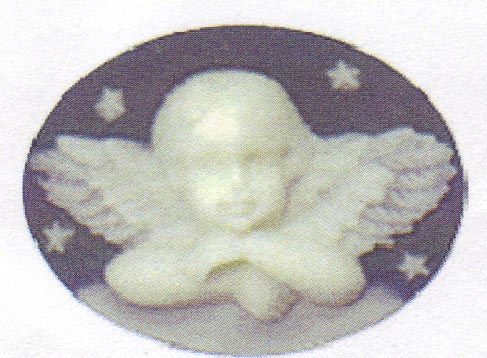 click here to view larger image of Angel on Navy (needle minder) (magnet)