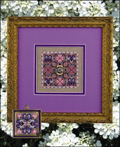 click here to view larger image of Pansies Please (includes embellishments) (chart with charms/buttons)