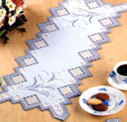 click here to view larger image of Hardanger Table Runner (Hardanger and Cut Work)