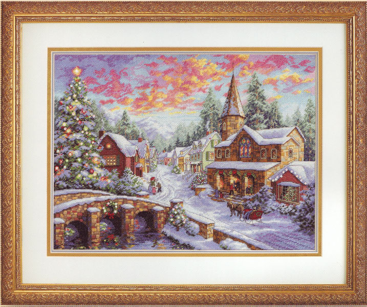 click here to view larger image of Holiday Village (counted cross stitch kit)