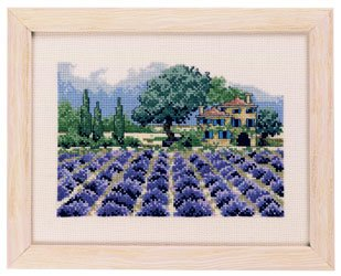 click here to view larger image of Lavender Field (counted cross stitch kit)