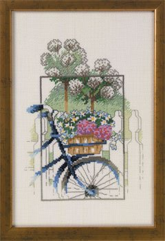 click here to view larger image of Bike In A Garden (counted cross stitch kit)
