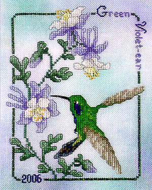 click here to view larger image of Green Violet-Ear Hummingbird  2006 (chart)