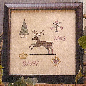 click here to view larger image of Leaping Deer Motif (chart)