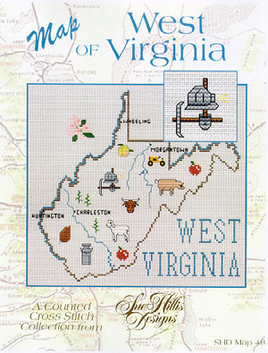 click here to view larger image of West Virginia Map (chart)