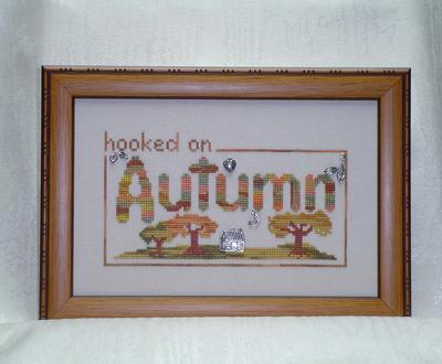 click here to view larger image of Hooked on Autumn (chart with charms/buttons)