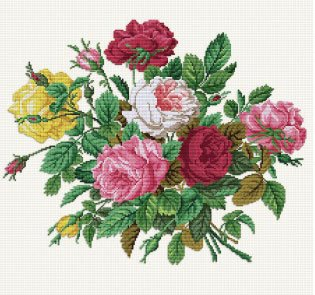 click here to view larger image of Roses in their Splendor (chart)