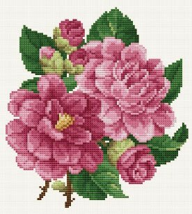 click here to view larger image of Pink Peonies (chart)