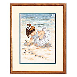 click here to view larger image of Collecting Shells (counted cross stitch kit)