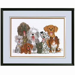 click here to view larger image of Dogs of Duckport - Suzys Zoo (counted cross stitch kit)