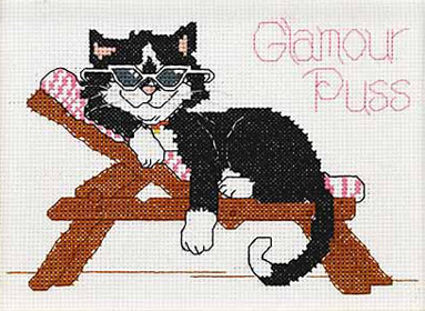 click here to view larger image of Glamour Puss - Suzys Zoo (counted cross stitch kit)