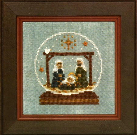 click here to view larger image of Nativity Globe (counted cross stitch kit)
