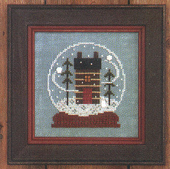 click here to view larger image of Cabin in the Globe - Zipper (counted cross stitch kit)