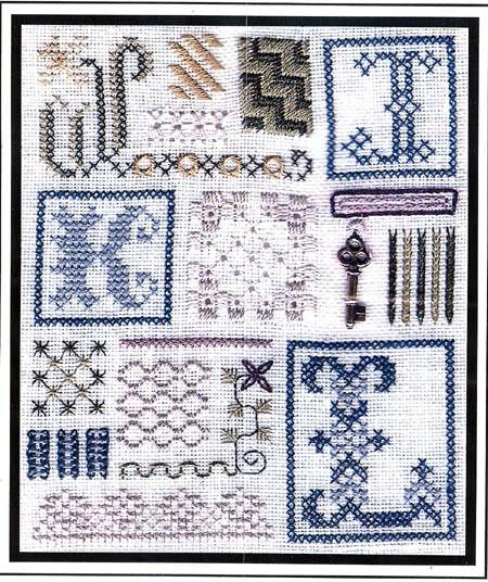 click here to view larger image of Sampler of Stitches - JKL (chart)