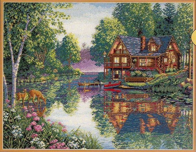 click here to view larger image of Cabin Fever (counted cross stitch kit)