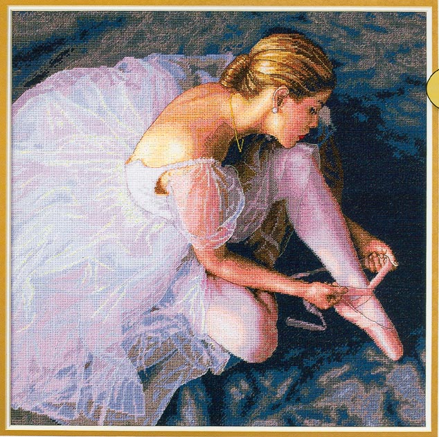click here to view larger image of Ballerina Beauty (counted cross stitch kit)