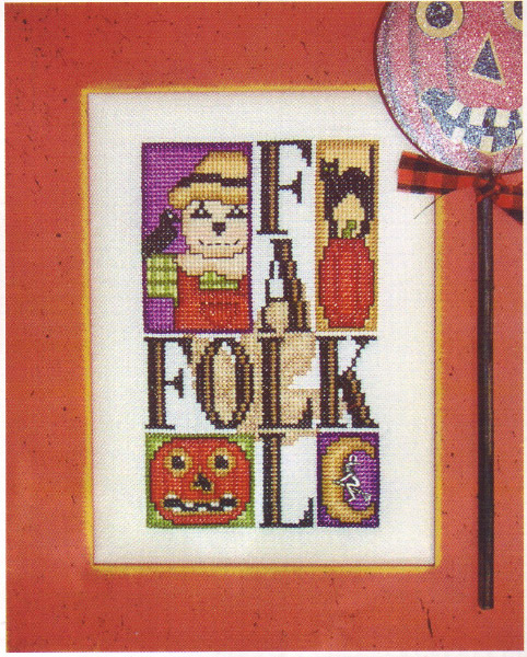 click here to view larger image of Charmed Fall Folk (chart with charms/buttons)