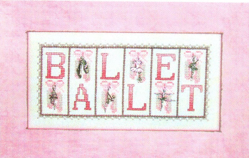 click here to view larger image of Ballet - Mini Blocks (chart with charms/buttons)