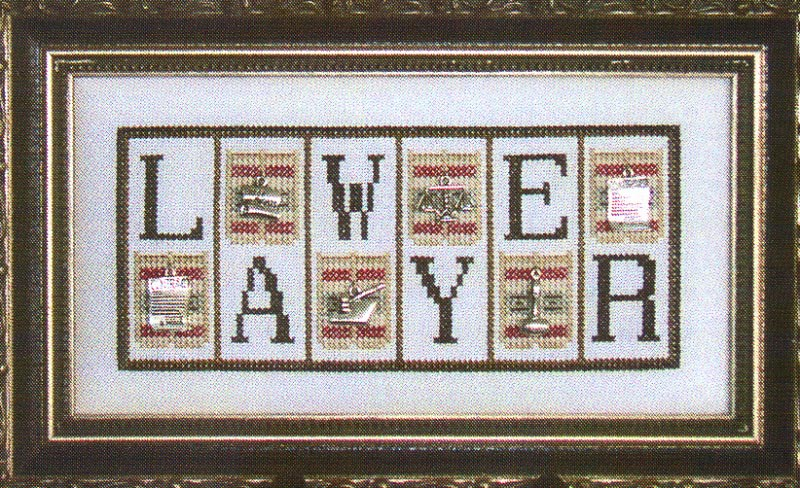 click here to view larger image of Lawyer - Mini Blocks (chart with charms/buttons)