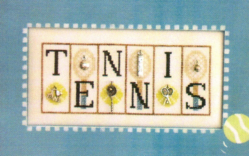 click here to view larger image of Tennis - Mini Blocks (chart with charms/buttons)