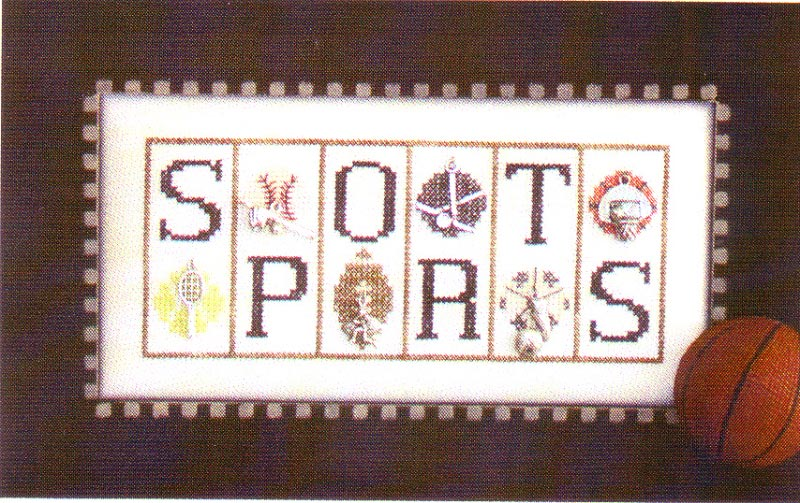 click here to view larger image of Sports - Mini Blocks (chart with charms/buttons)