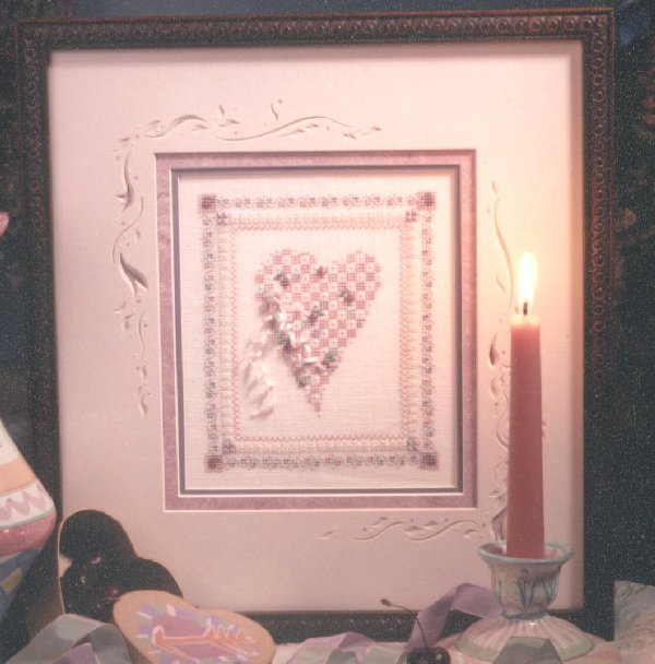 click here to view larger image of Cherry Heart (counted cross stitch kit)