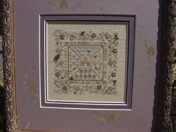 click here to view larger image of Bee Garden (counted cross stitch kit)