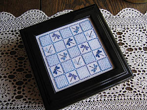 click here to view larger image of Dragonflies & Sampler Stitches (chart)