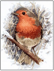click here to view larger image of Robin Redbreast (counted cross stitch kit)