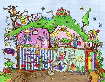 click here to view larger image of Cut Thru Fairy Hill (counted cross stitch kit)