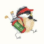click here to view larger image of Golfing Chick (kit) (counted cross stitch kit)
