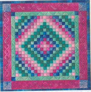 click here to view larger image of Amish Trip Around The World Quilt (counted canvas chart)