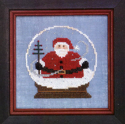 click here to view larger image of Santa Globe (counted cross stitch kit)