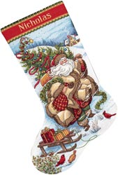 click here to view larger image of Santas Journey Stocking (counted cross stitch kit)