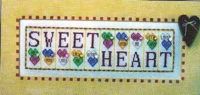 click here to view larger image of Sweetheart - Jelly Mini Blocks (chart with charms/buttons)